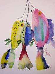 Art: Todays Catch by Artist Delilah Smith