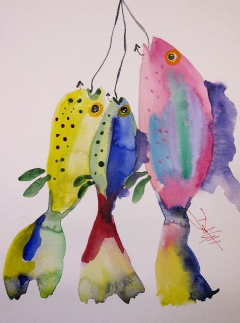 Art: Todays Catch by Artist Delilah Smith