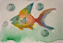 Art: Rainbow Fish by Artist Delilah Smith
