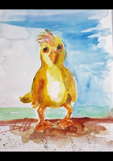 Art: Fat Little Duck by Artist Delilah Smith
