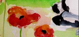 Detail Image for art Snoozing in the Poppies