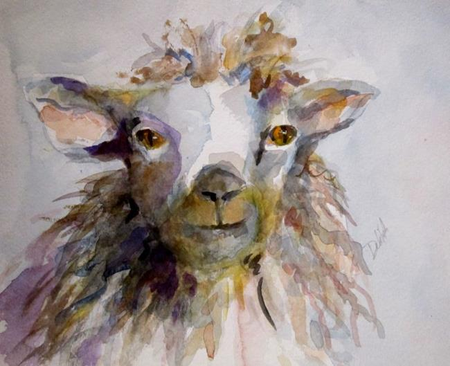 Art: Sheep No 2 by Artist Delilah Smith