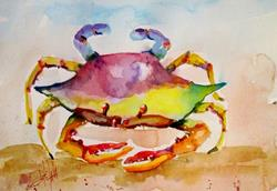 Art: Colorful Crab by Artist Delilah Smith