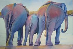 Art: Evening Dip by Artist Kathy Haney