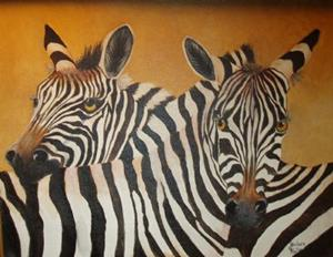 Detail Image for art Zebras in Love