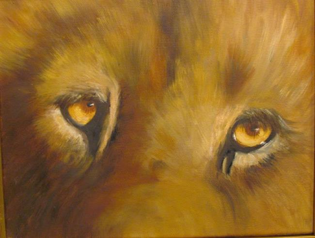 Art: Lion's Eyes  by Artist Barbara Haviland