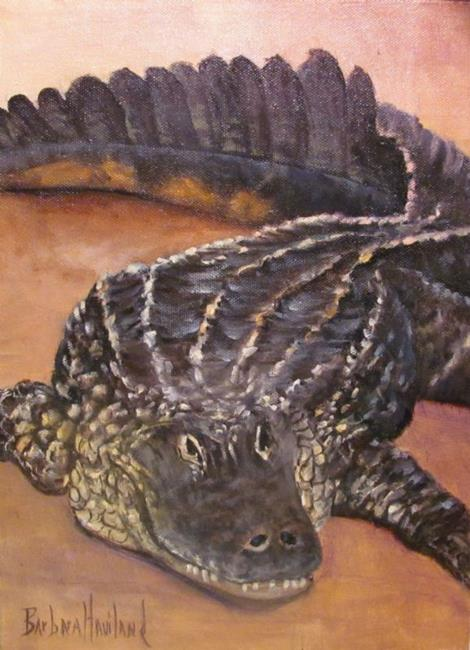 Art: Alligator  by Artist Barbara Haviland