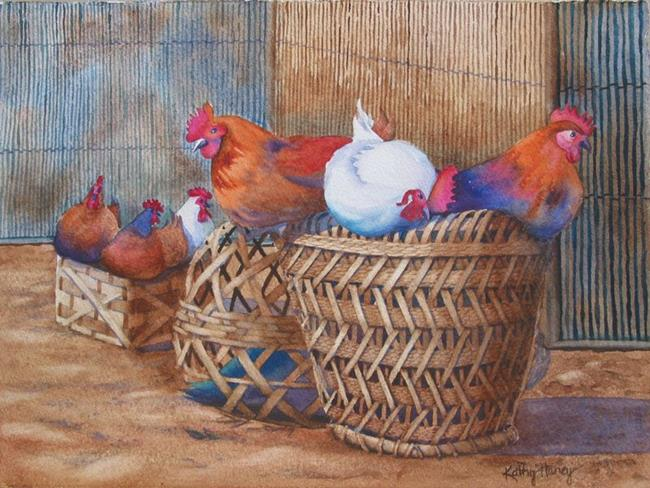 Art: Ready for Market SOLD by Artist Kathy Haney