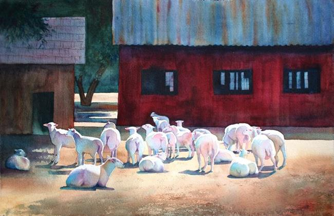 Art: The Flock by Artist Kathy Haney