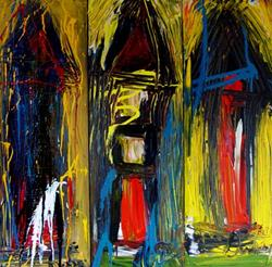Art: And the White Dog still howls outside your door by Artist Kelli Ann Dubay