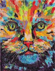 Art: Cat Abstract - sold by Artist Ulrike 'Ricky' Martin