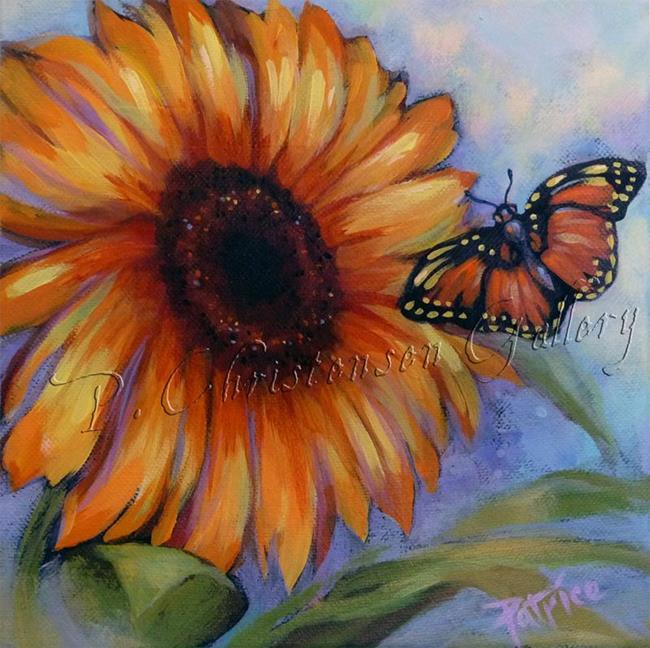Art: Desert Butterfly & Sunflower by Artist Patricia  Lee Christensen