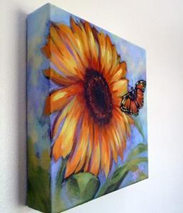 Detail Image for art Desert Butterfly & Sunflower