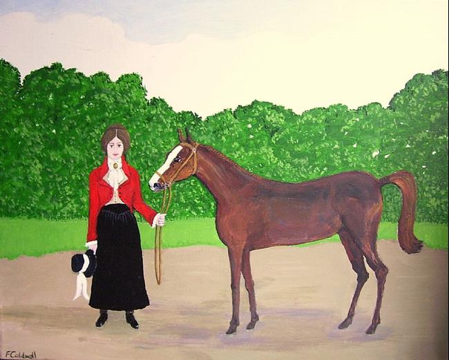 Art: Pretty Filly (Sold) by Artist Fran Caldwell