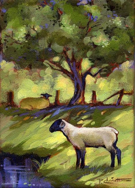 Art: Lamb & Ewe by Artist Patricia  Lee Christensen