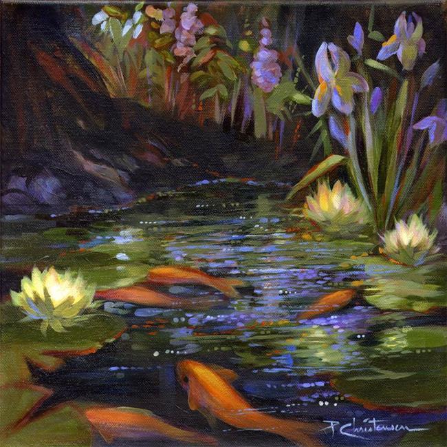 Private profile page for Koi pond art