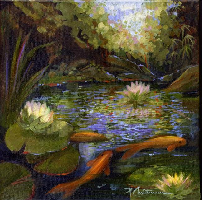 Private profile page for Koi fish pond art