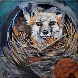Art: Fox Den by Artist Heather Sims