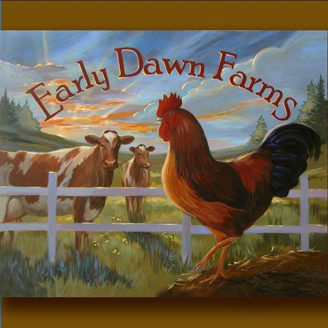 Art: Early Dawn Farms by Artist Patricia  Lee Christensen
