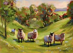 Art: Fear Not Little Flock ~ Sold by Artist Patricia  Lee Christensen