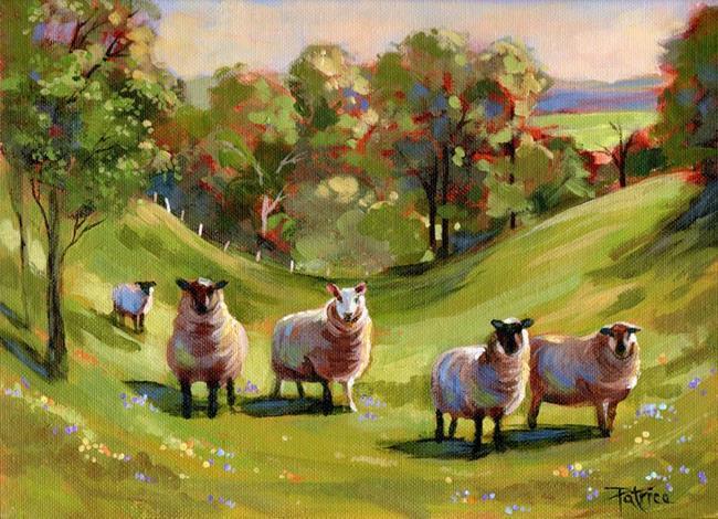 Art: Fear Not Little Flock ~ Sold by Artist Patricia  Lee Christensen