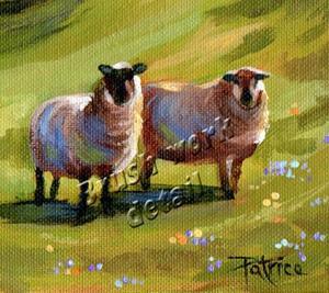 Detail Image for art Fear Not Little Flock ~ Sold