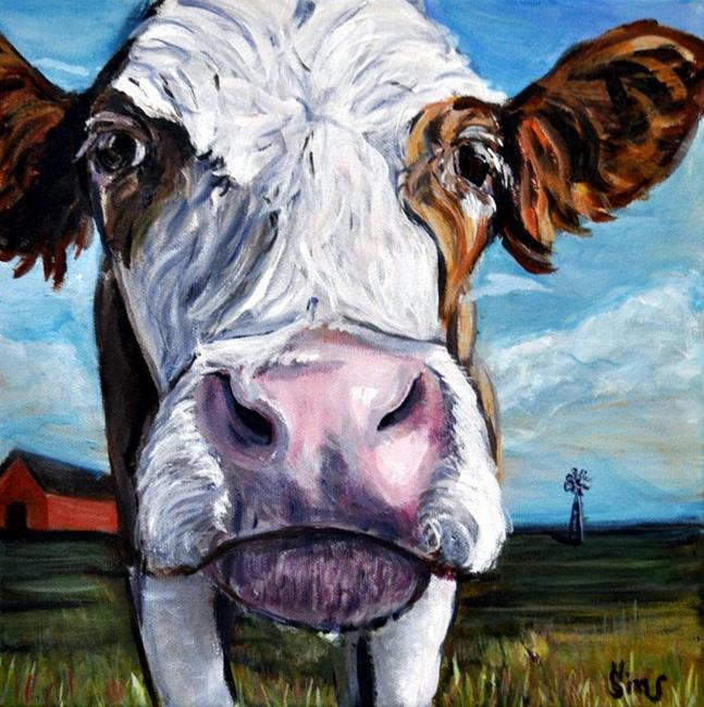 Art: Mooo!!! by Artist Heather Sims
