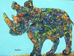 Art: Rhino by Artist Ulrike 'Ricky' Martin