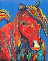 Art: A Horse of Many Colors - available in my etsy store by Artist Ulrike 'Ricky' Martin
