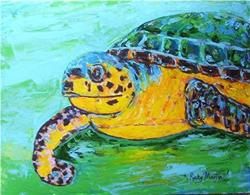 Art: Sea Turtle 2 - sold by Artist Ulrike 'Ricky' Martin