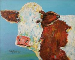 Art: Placid Cow by Artist Ulrike 'Ricky' Martin