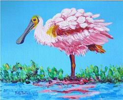 Art: Roseate Spoonbill - available in my etsy store by Artist Ulrike 'Ricky' Martin