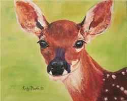 Art: Fawn, Baby Deer by Artist Ulrike 'Ricky' Martin