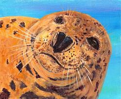 Art: Harbor Seal by Artist Ulrike 'Ricky' Martin