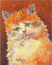 Art: Kitty  (sold) by Artist Ulrike 'Ricky' Martin