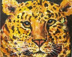 Art: Golden Leopard by Artist Ulrike 'Ricky' Martin