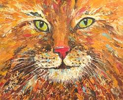 Art: Kool Kitty Kat by Artist Ulrike 'Ricky' Martin