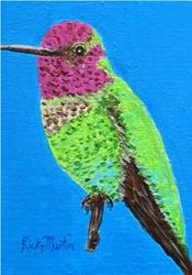 Art: Colorful Little Hummingbird by Artist Ulrike 'Ricky' Martin
