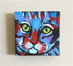 Art: Abstract Kitty  # 3 by Artist Ulrike 'Ricky' Martin