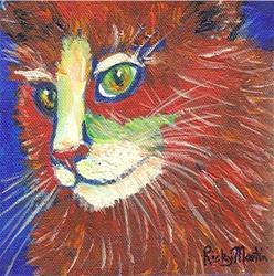 Art: Abstract Cat # 5 by Artist Ulrike 'Ricky' Martin