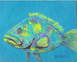 Art: Fish Story -  sold by Artist Ulrike 'Ricky' Martin