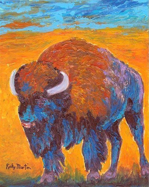 Art: Buffalo  - sold by Artist Ulrike 'Ricky' Martin