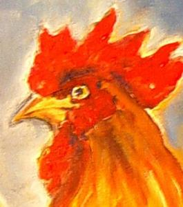 Detail Image for art Fancy French Rooster! -SOLD