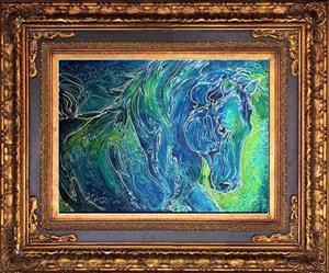 Detail Image for art AQUA MIST EQUINE BATIK