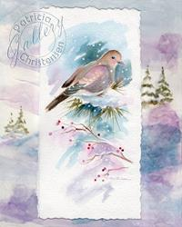 Art: Winter Mourning Dove (Sold) by Artist Patricia  Lee Christensen