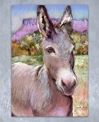 Art: A Donkey Named Milo by Artist Patricia  Lee Christensen