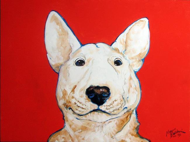 Art: BINGO BULL TERRIER by Artist Marcia Baldwin