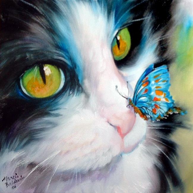 Butterfly by marcia baldwin from animals for Cat paintings on canvas