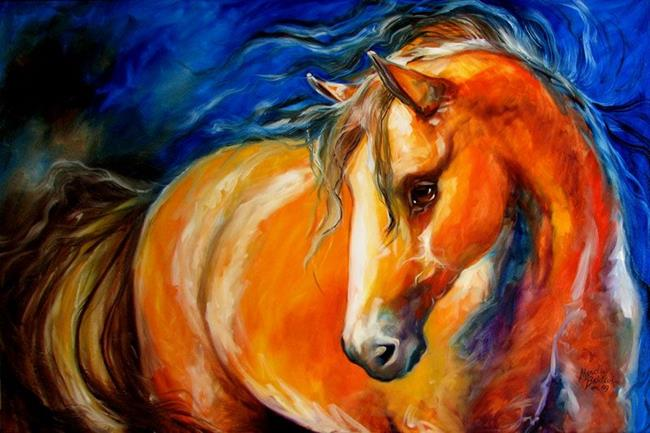 Art: OUT of the BLUE EQUUS by Artist Marcia Baldwin