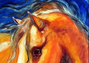 Detail Image for art OUT of the BLUE EQUUS